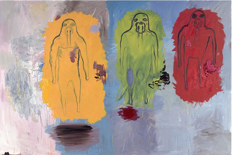 Bjarne Melgaard, Untitled, Oil on Canvas, 200 x 300 cm, 2006
