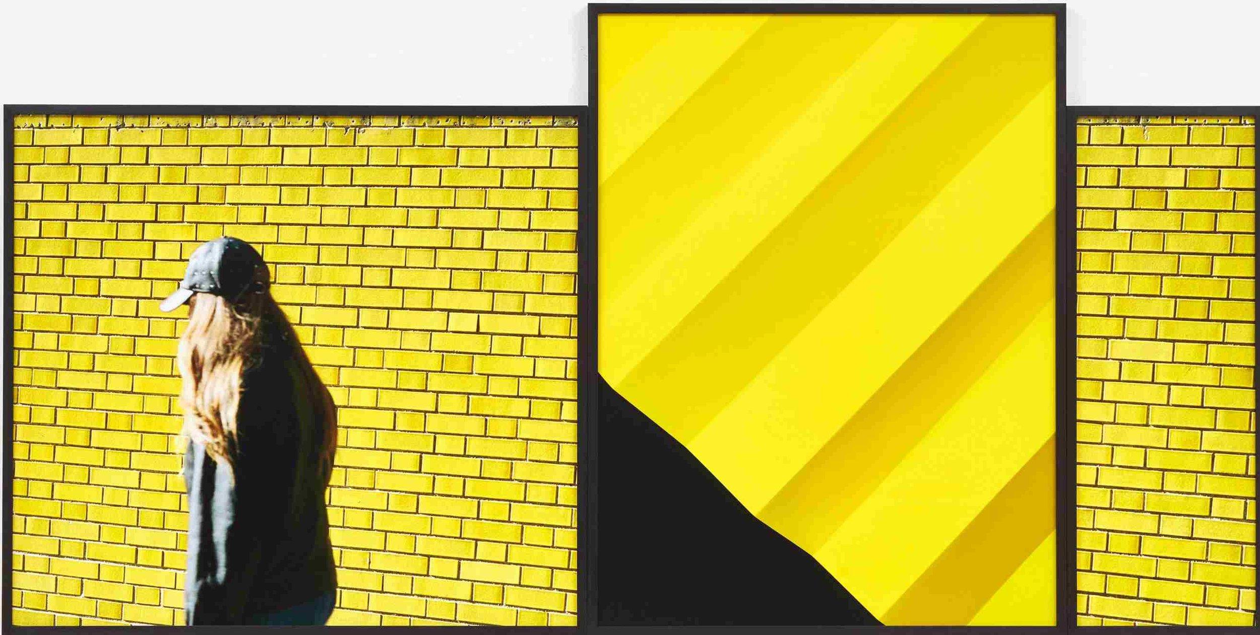 Viktoria Binschtok, Yellow Cluster, 3 Digital C-Prints, 120 x 236 cm, 2016