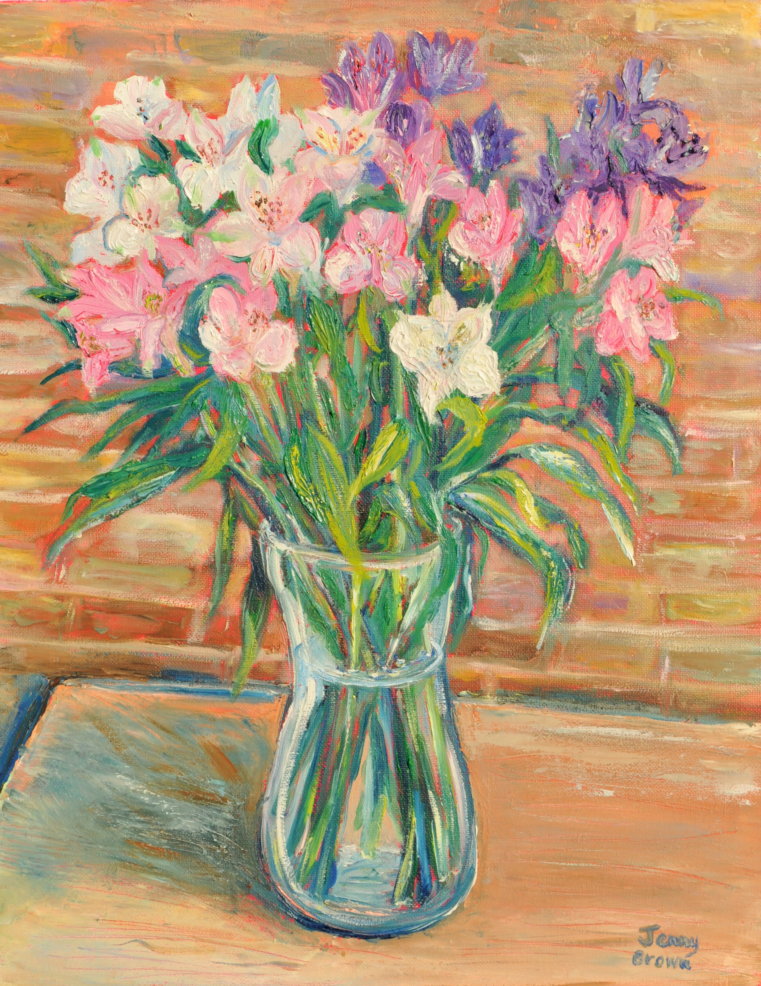 Freesias - Oil on Canvas 50x40cm