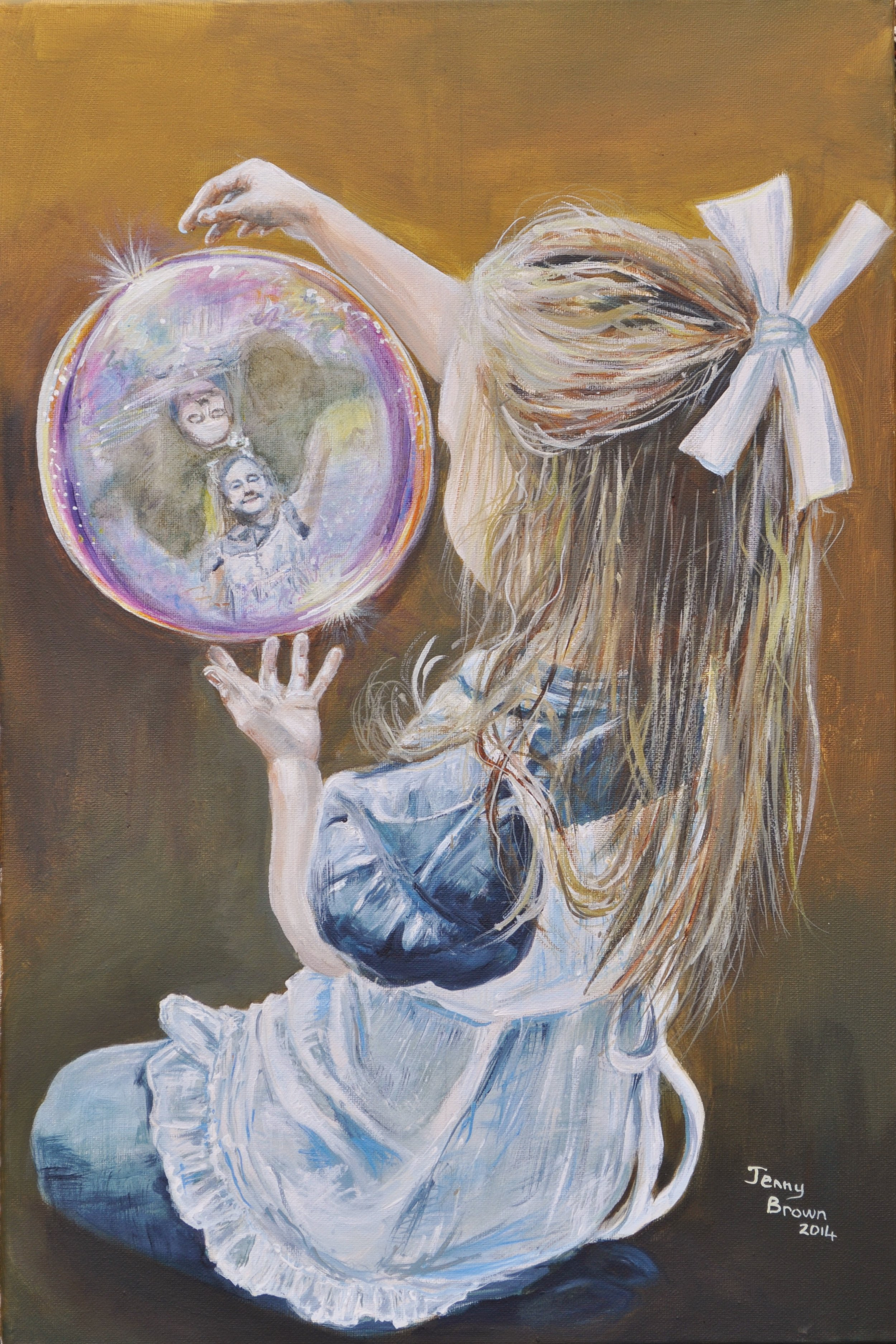 Alice's Looking Glass1    Acrylic on Canvas 60x40cm