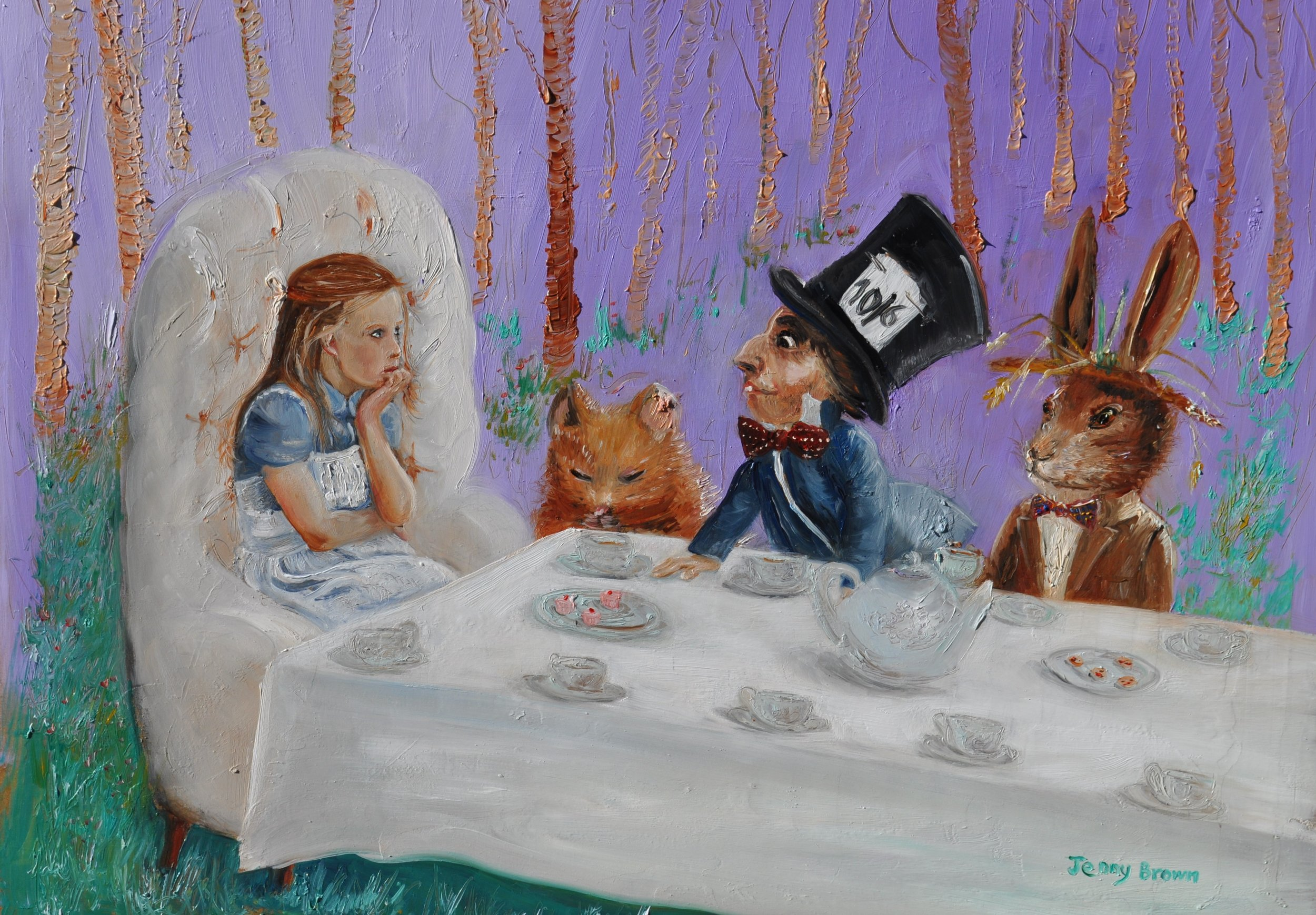 Tea with the Mad Hatter   Oil on Board 35x 46cm   SOLD