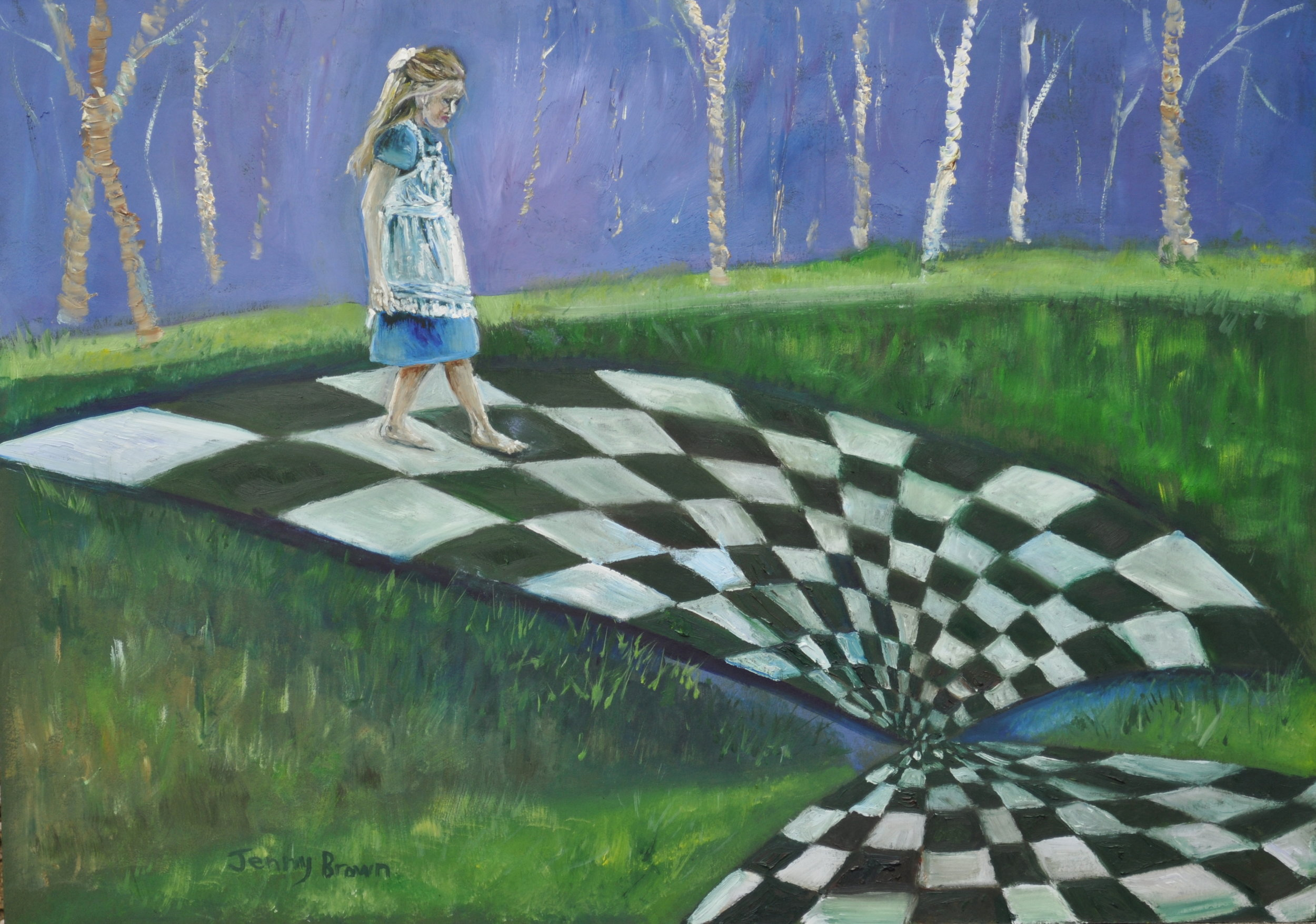 Checkmate Oil on Board   30x40cm SOLD
