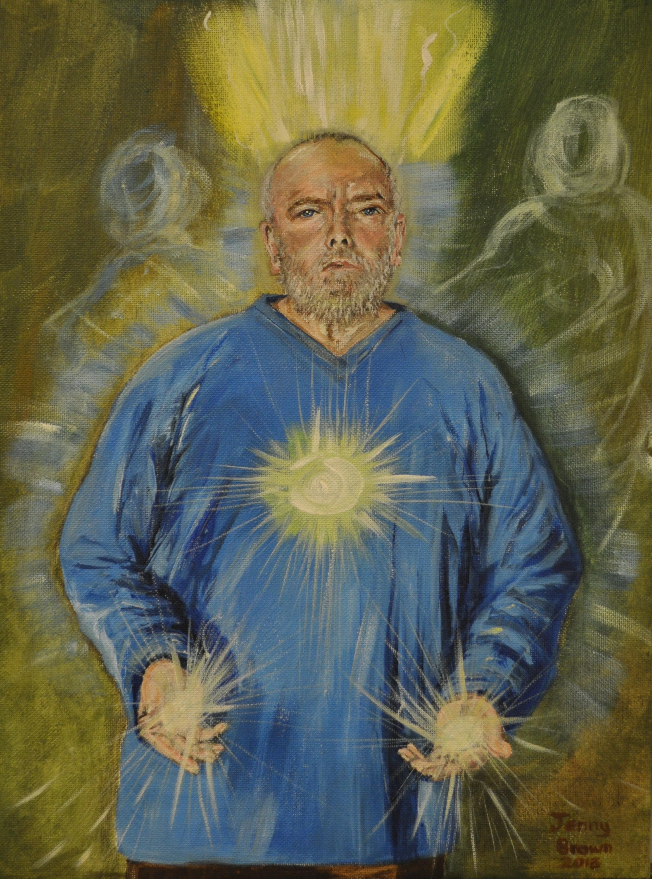 Spiritual Healer  Acrylic on Canvas  30 x40cm  SOLD