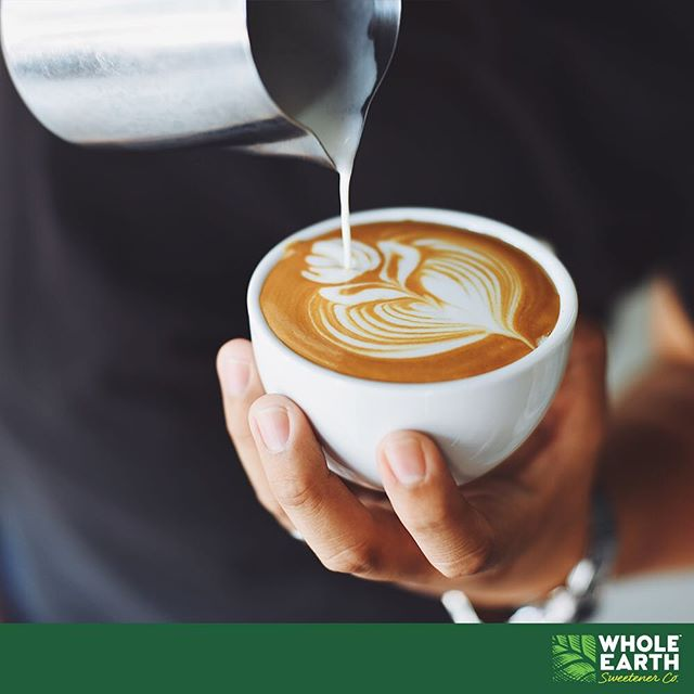 It's that time of day! Sweeten your afternoon coffee guilt free and naturally with Whole Earth #wholeearth #wholeearthsweetener #sugarfree #stevia #latteart #coffee