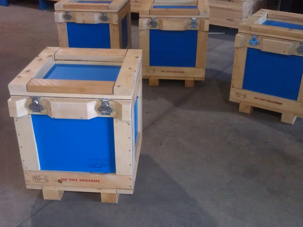 Any Type - We will provide crates that stack or roll, top or side-load crates, crates with doors and integrated skids, shock-absorbing skids...whatever the need.