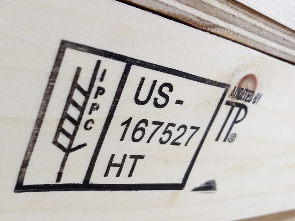 IPPC-Certified - Every construction in our woodshop and the materials used are certified for domestic and international shipment. This ensures a safe environment everywhere our products take yours.