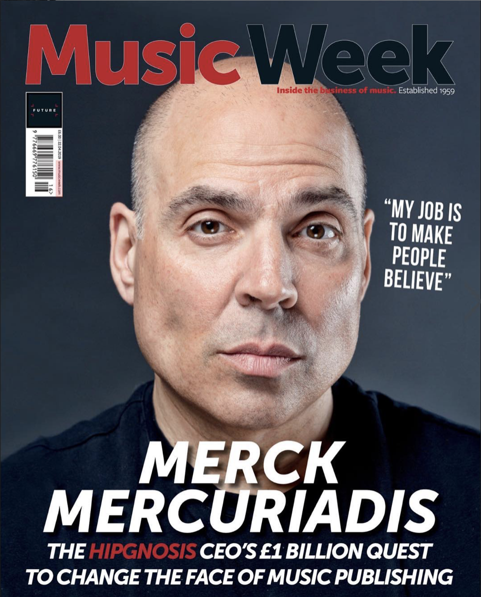 Hipgnosis Founder and CEO on the cover of Music Week April 2019
