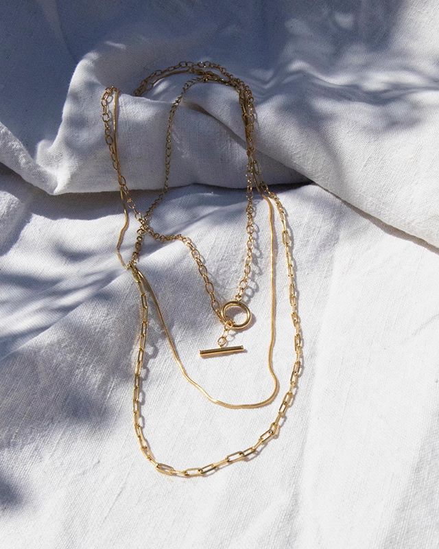 Three chains ⛓ Gold vermeil 💫 Tap to view ✨