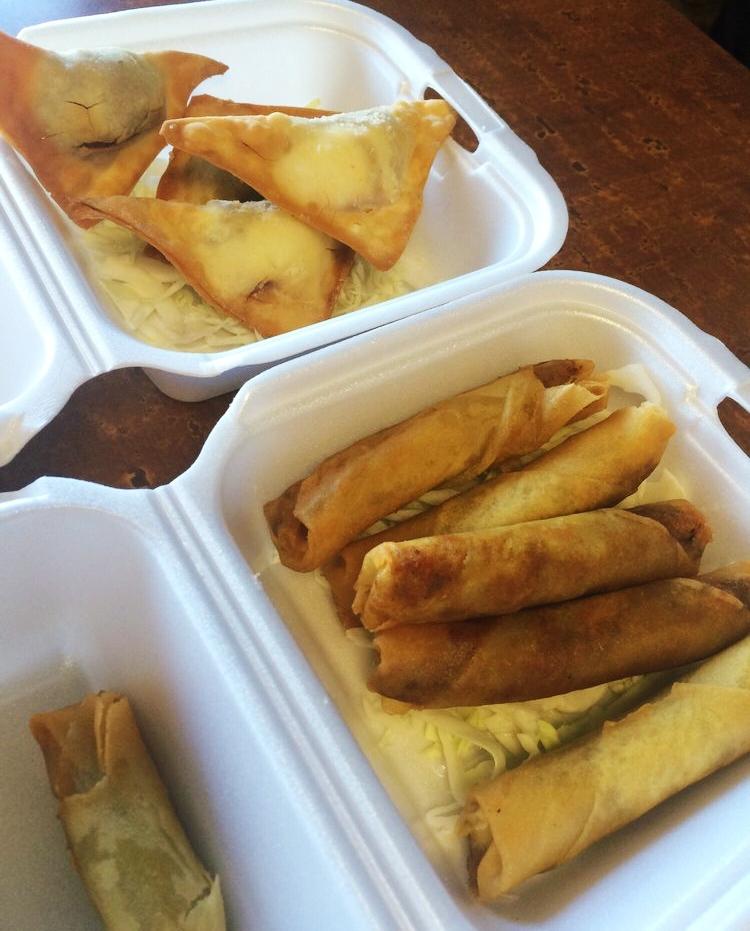 Kahlúa wontons and Meat lumpia.jpg