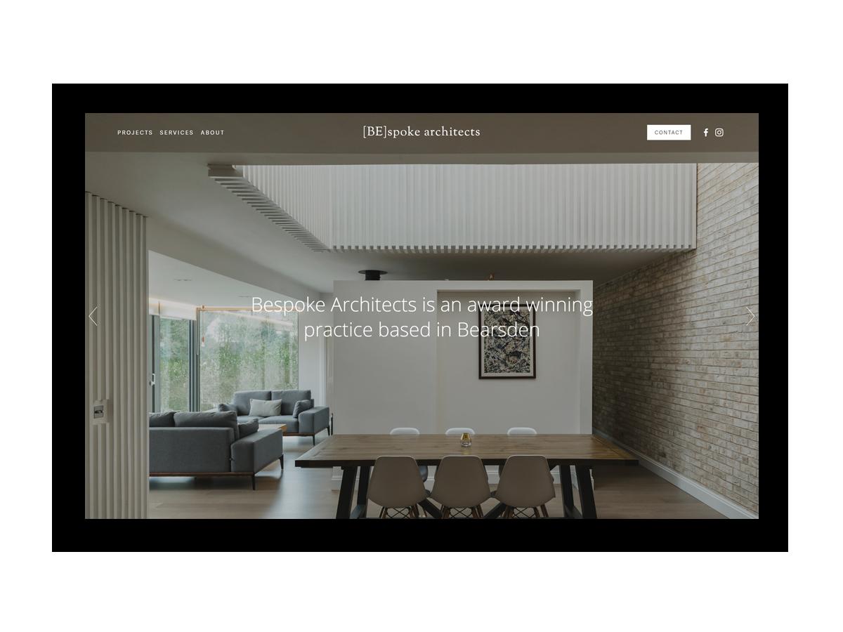 - Bespoke Architects is an award winning practice based in Bearsden, Glasgow.
