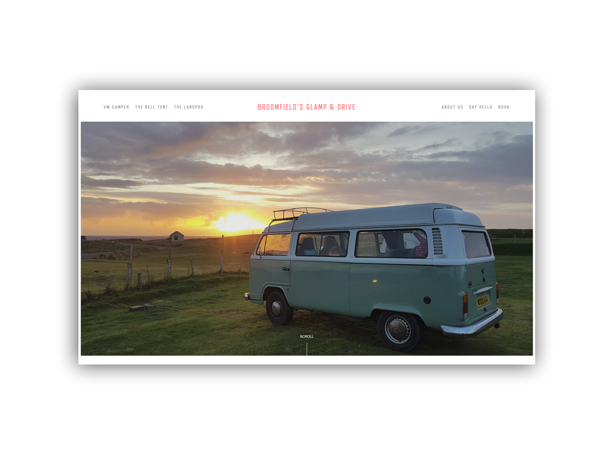 - Suitated on the North Coast 500, Broomfield's Glamp & Drive offers VW hire, landpods and glamping.