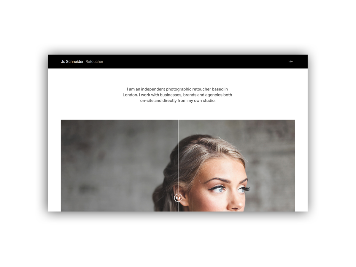 - Jo Schneider is an independent photographic retoucher based in London.She works with businesses, brands and agencies both on-site and directly from her studio.Coming soon