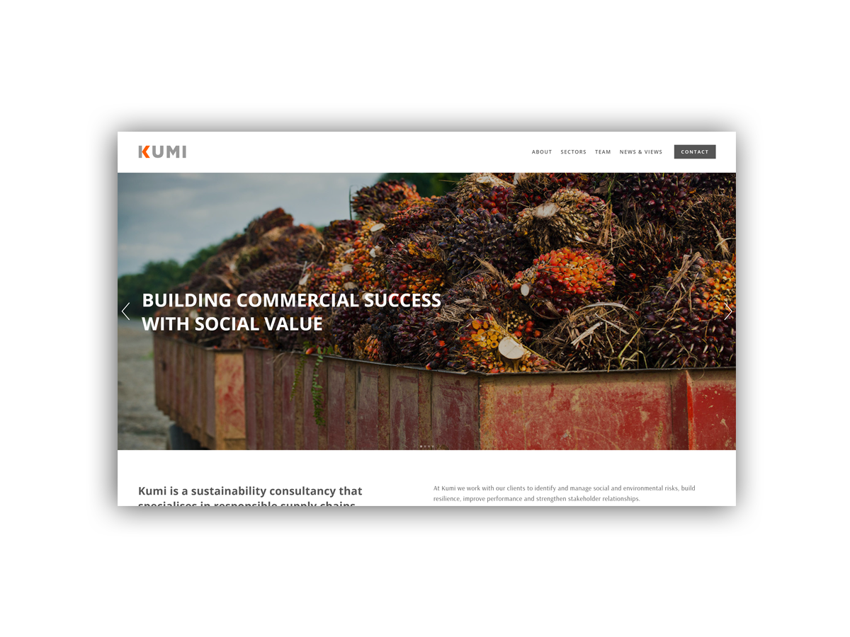 - Kumi is a sustainability consultancy that specialises in responsible supply chains.