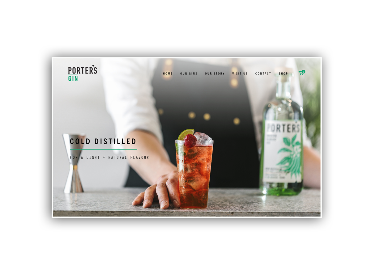 - Porter's Gin recipes are made with high quality British spirit and cold-distilled natural botanicals.