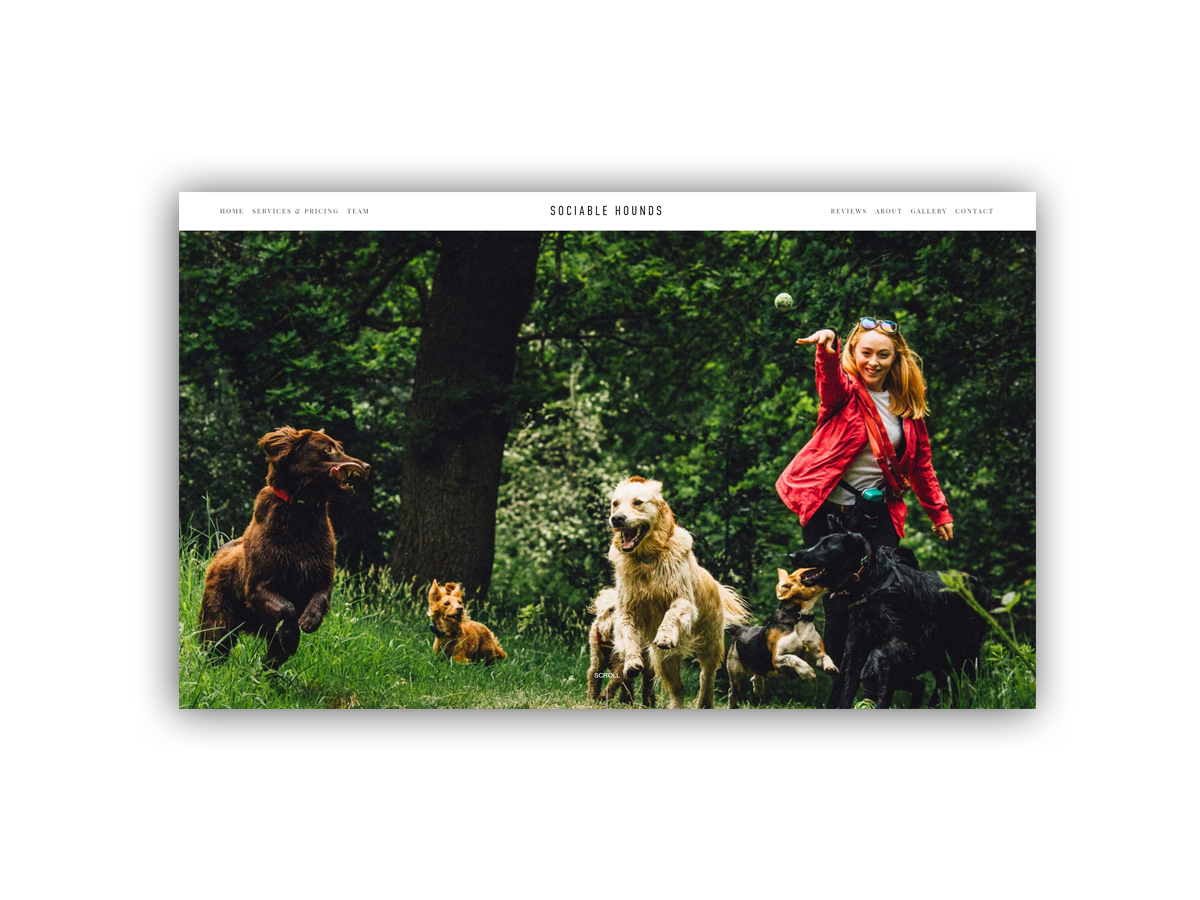 - Sociable Hounds offers a reliable and unique Edinburgh dog walking and day care service, which guarantees to take the best care of your loveable hound.