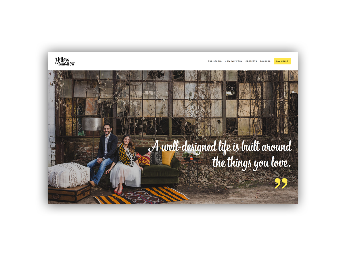 """- Yellow Bungalow is an interior design studio based in Atlanta, Georgia.""""A well-designed life is one built around the things we love - every aspect is a uniquely selected piece to be adored and reveled.""""Coming soon"""
