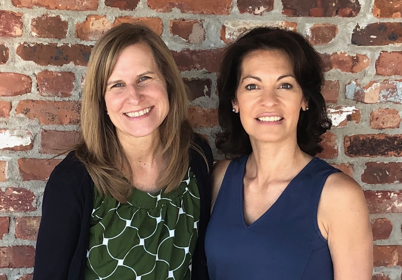 Blue Ribbon Foundation Secretary Laurie Meehan (left) with NEW President Kristin Londal, poised to lead the Blue Ribbon Foundation in support of The Chapel School in Bronxville.