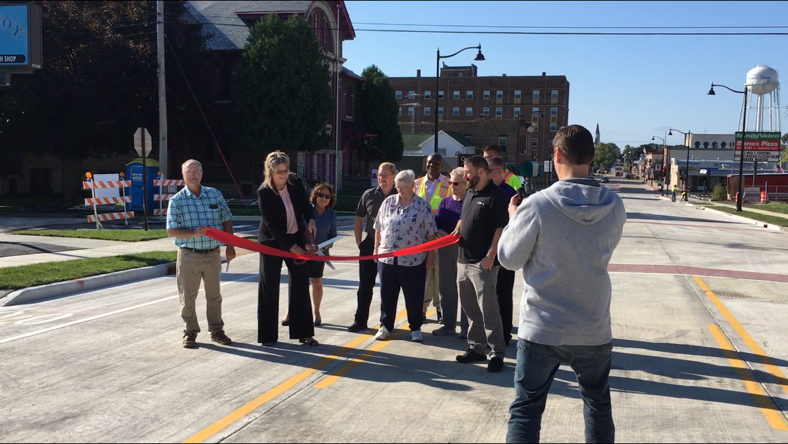 Ribbon cutting for Complete Streets initiative