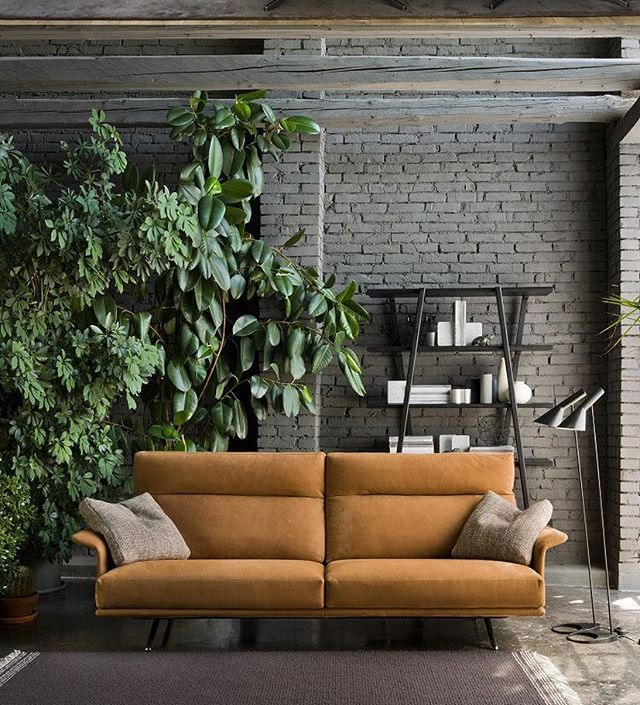 The elegance of the Nilson sofa by @verzelloni_official is timeless •  #sofa #design #furniture #interiordesign #italiandesign