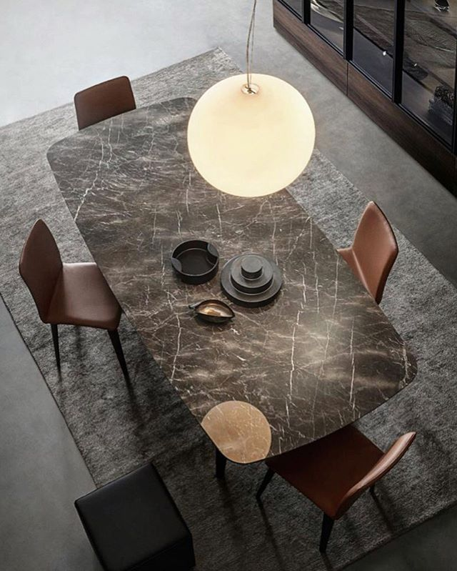 The sleek #Edward table by @giellesse_official from the Day collection is a perfect demonstration of refined elegance •  #tables #interiordesign #diningspace #design #moodboardmonday #style #italiandesign #italianfurnitureonline #moderninteriors