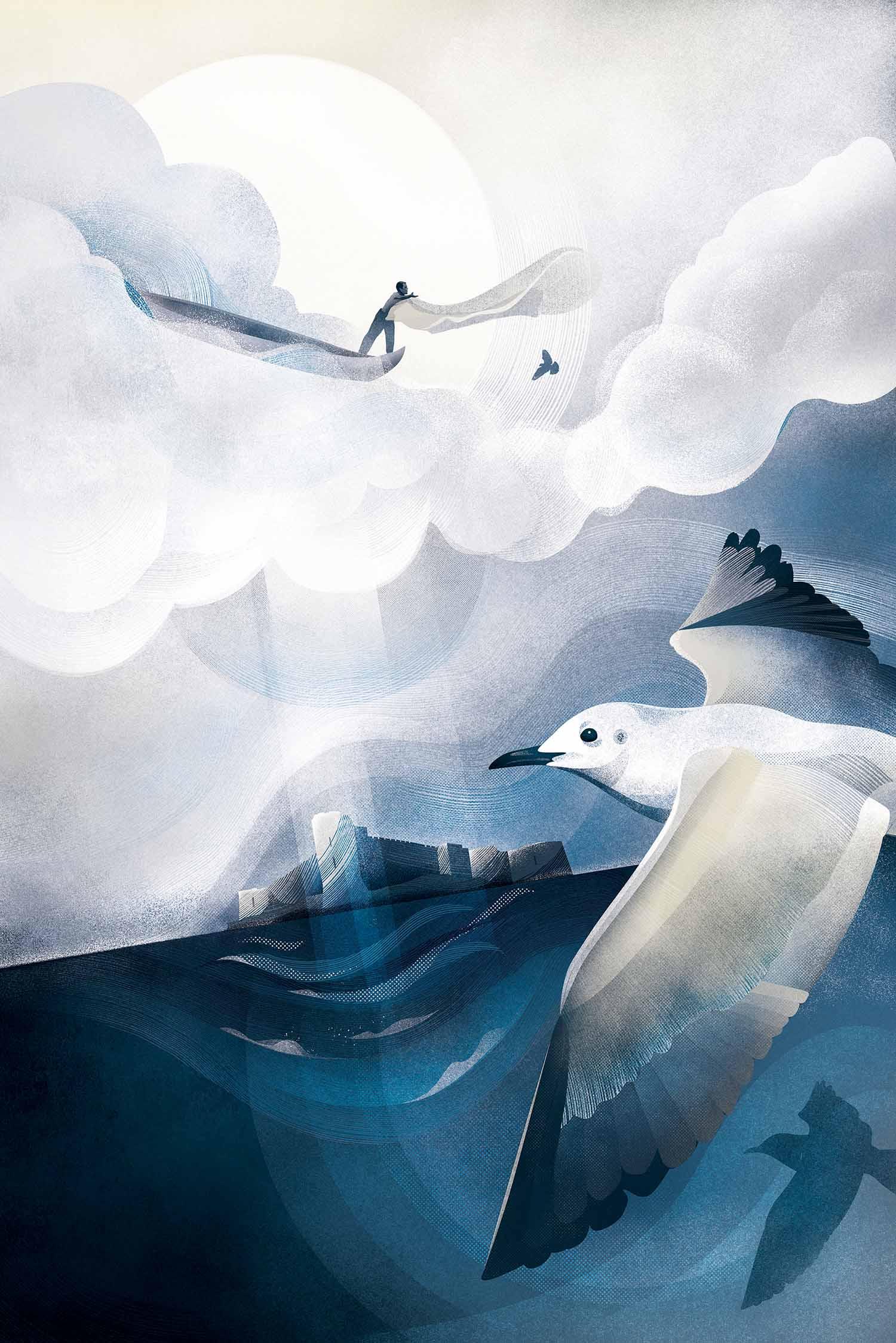 "Digital illustration / painting, 24"" x 36"" -"