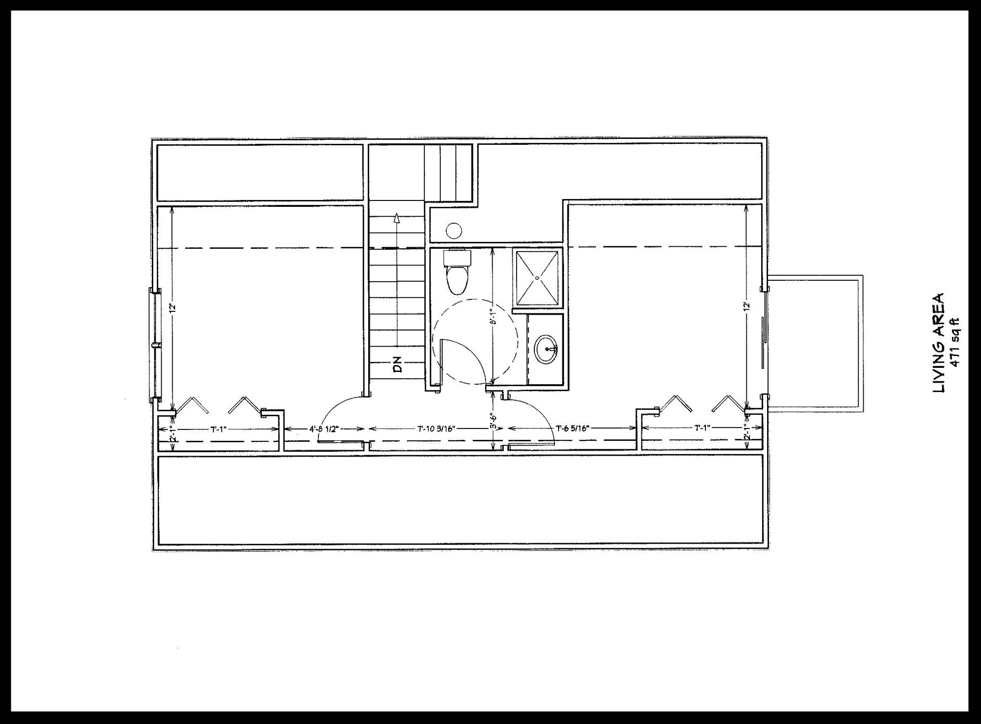 The Lucy, second floor plan view