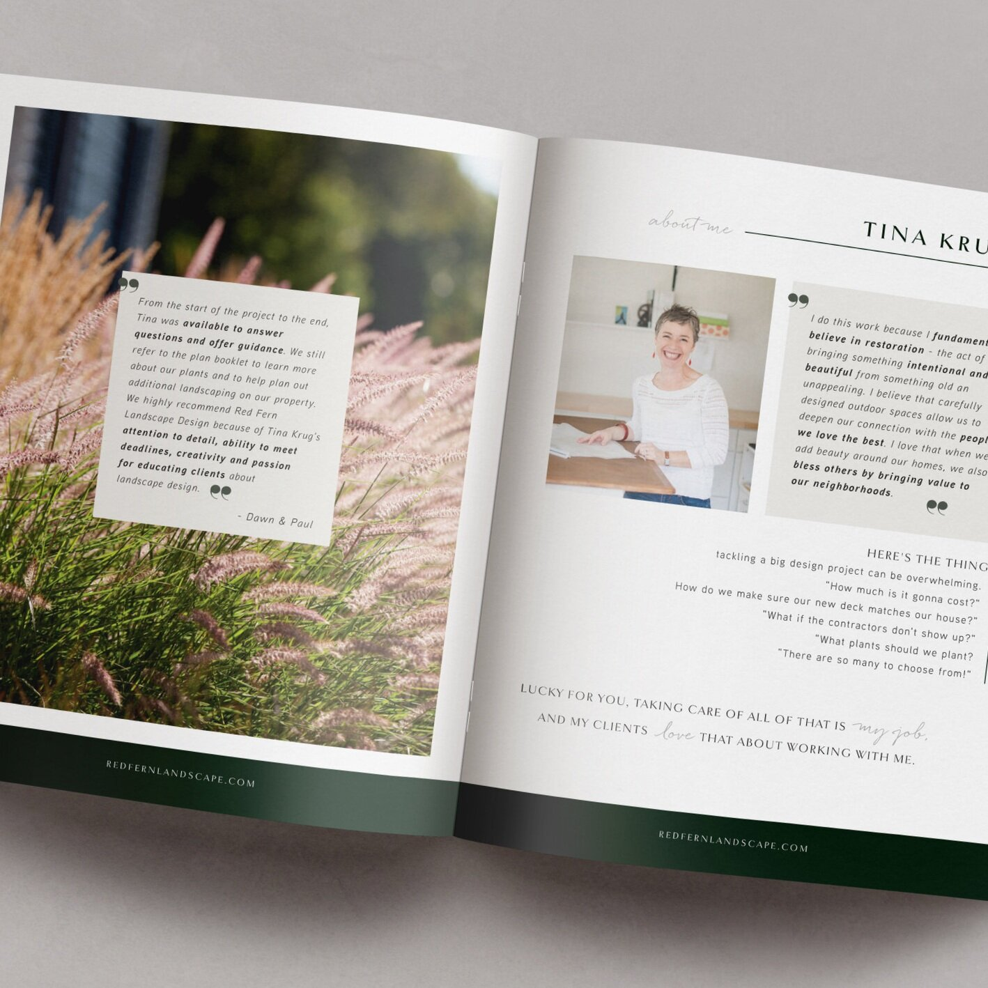 Red Fern Landscaping | E-book Design by Jula Paper Co.