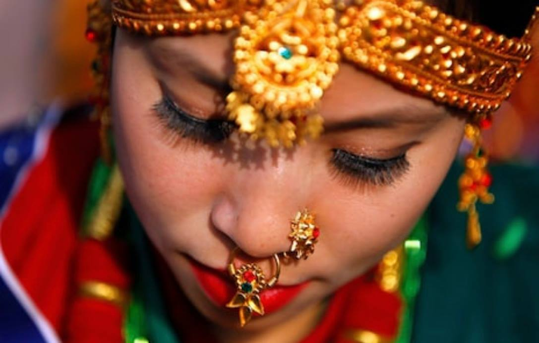 nepali girl in traditional dress