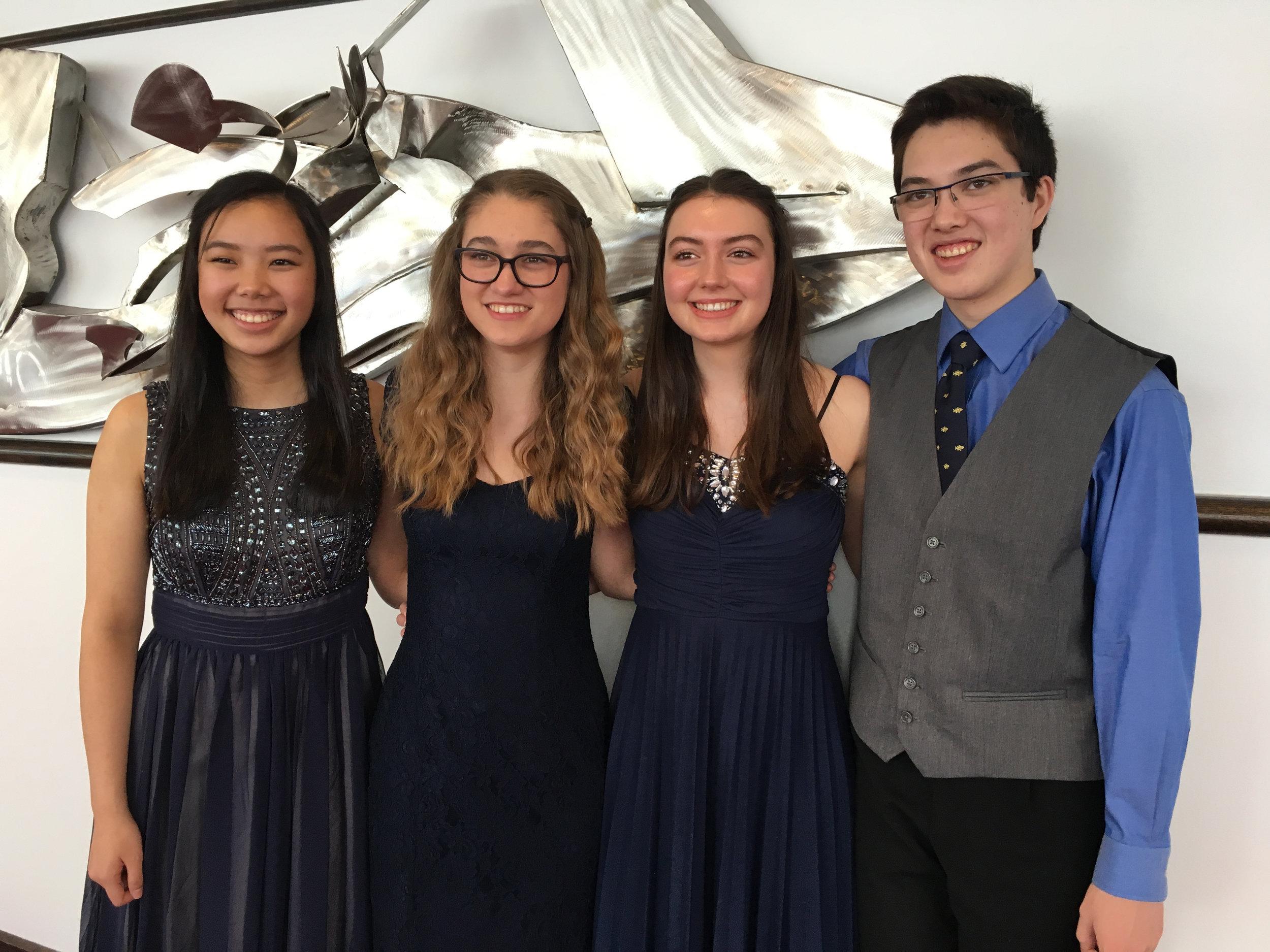 Quartet Fourzando (2018) —Joelle Chen, Makaela Foerderer, Elizabeth Bergmann, Dylan Kinneavy, coached by Tom Rosenberg
