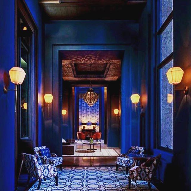 Loving cobalt at the moment. Inspiration for a project. . . . . #vernerpanton #bonhaminterior #curated #luxe #luxury #art #fairmontmarrakech #love #cobalt #givemeblue #nobeige #noscandi