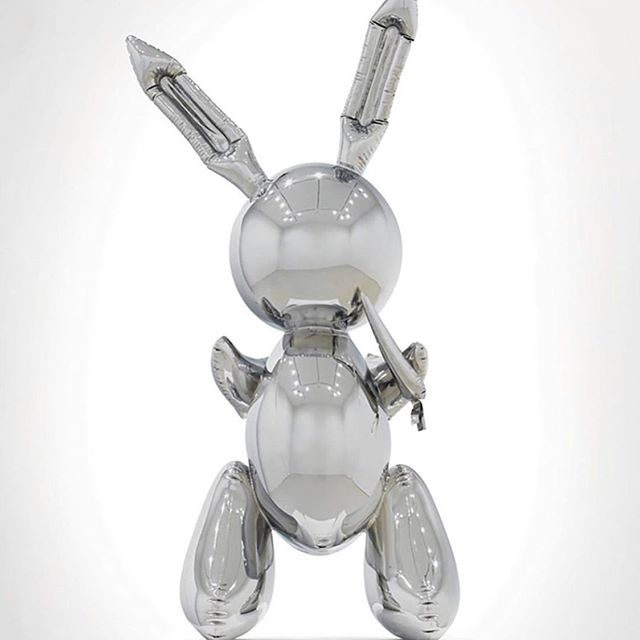 What $92m gets you these days... . . . . . . . . . #gagosian #jeffkoons #koonsrabbit #bonhaminterior #bonham #stainlesssteel #chrome #art #inflateable #luxe #luxury #collector #curated