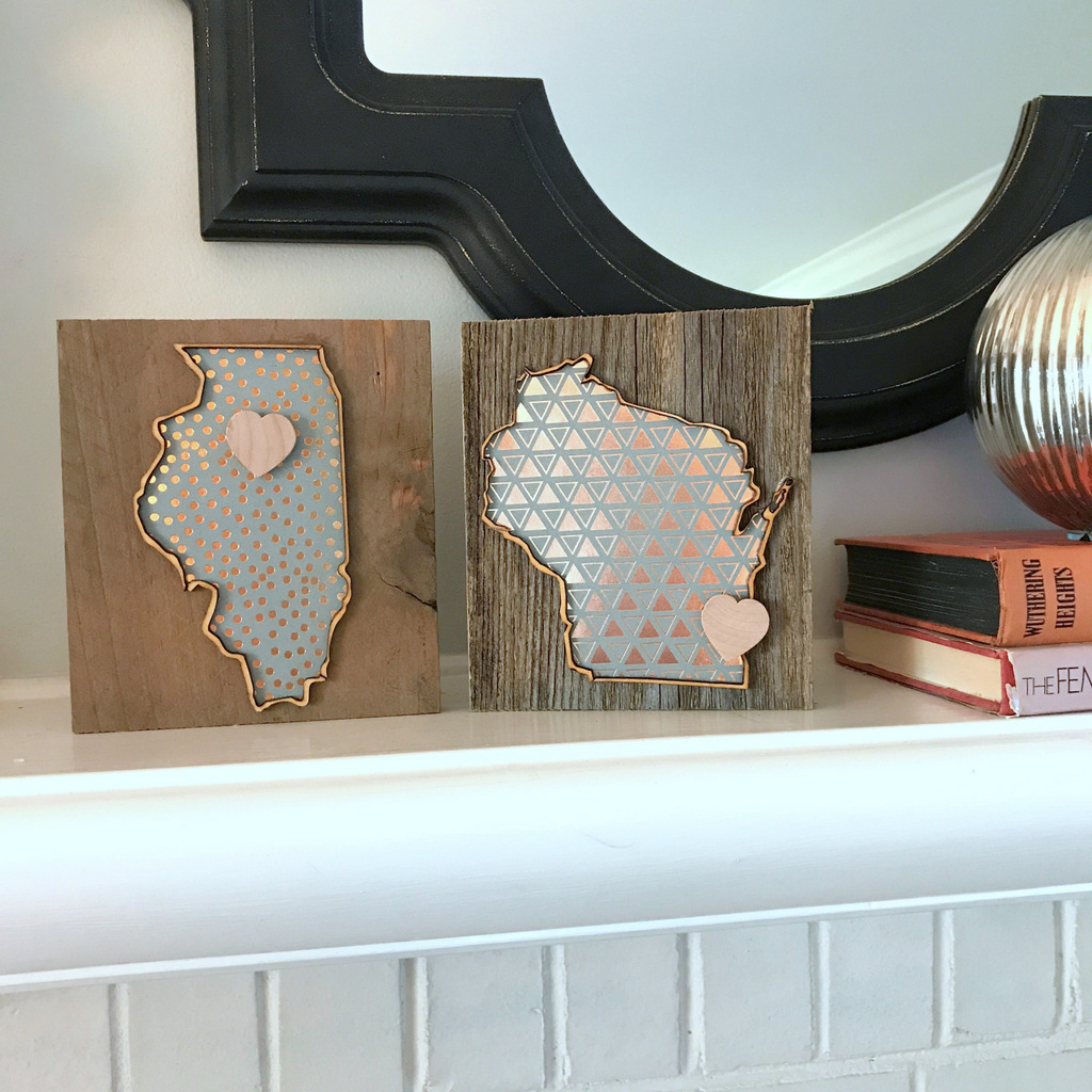 4. Love Where You Live Minis   These adorable little states come in a variety of different paper pattern options. Check  here  to see our current listings. Know someone who calls more than one state their home? Send them a mini coordinated collection and let them display their multi-state love with pride.