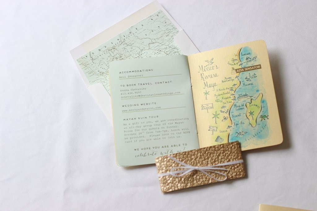 With destination wedding comes vacation planning. What a great way to give your guests all the details.