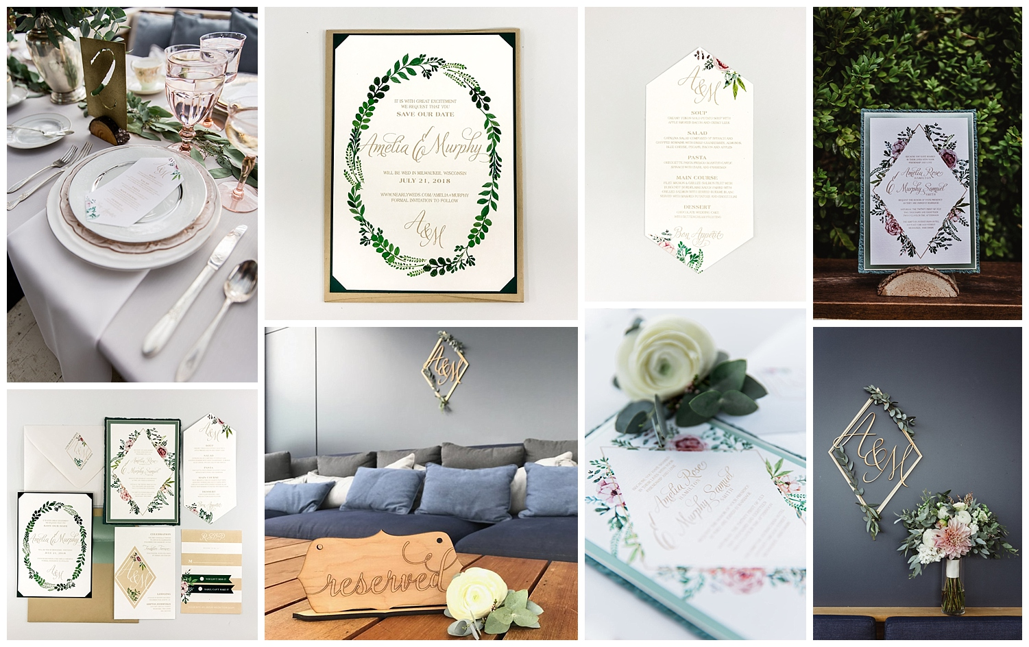 We love the cohesive floral set we designed for this styled shoot! The incorporation of a variety of visual pieces that all match in some way really display a certain aesthetic and atmosphere. Photos by Happy Takes Photography.