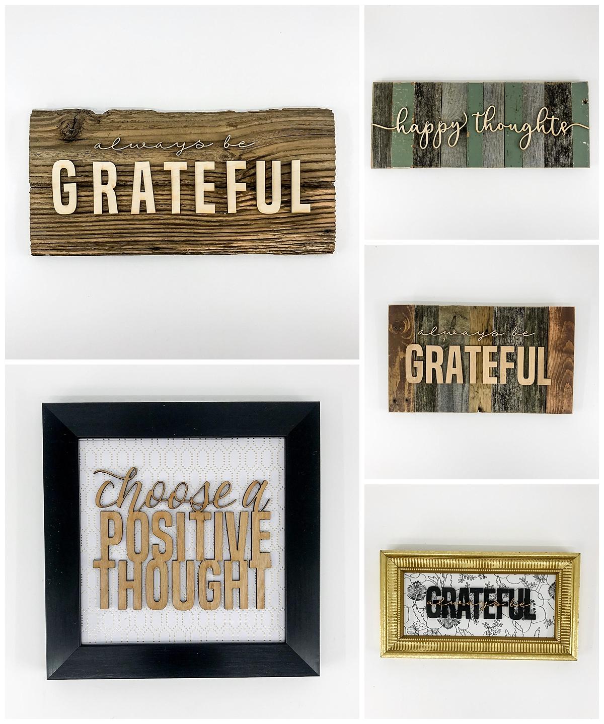 grateful rustic wall art
