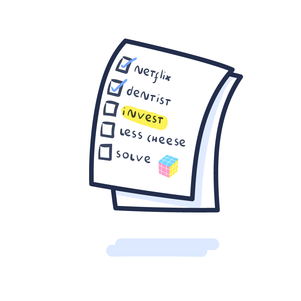 """Adulthood achievement - Start investing and get a kickstart with your """"Resolutions 2019"""" checklist. 😉Seriously speaking: consciously taking care of your hard earned savings gives you both - upping your"""
