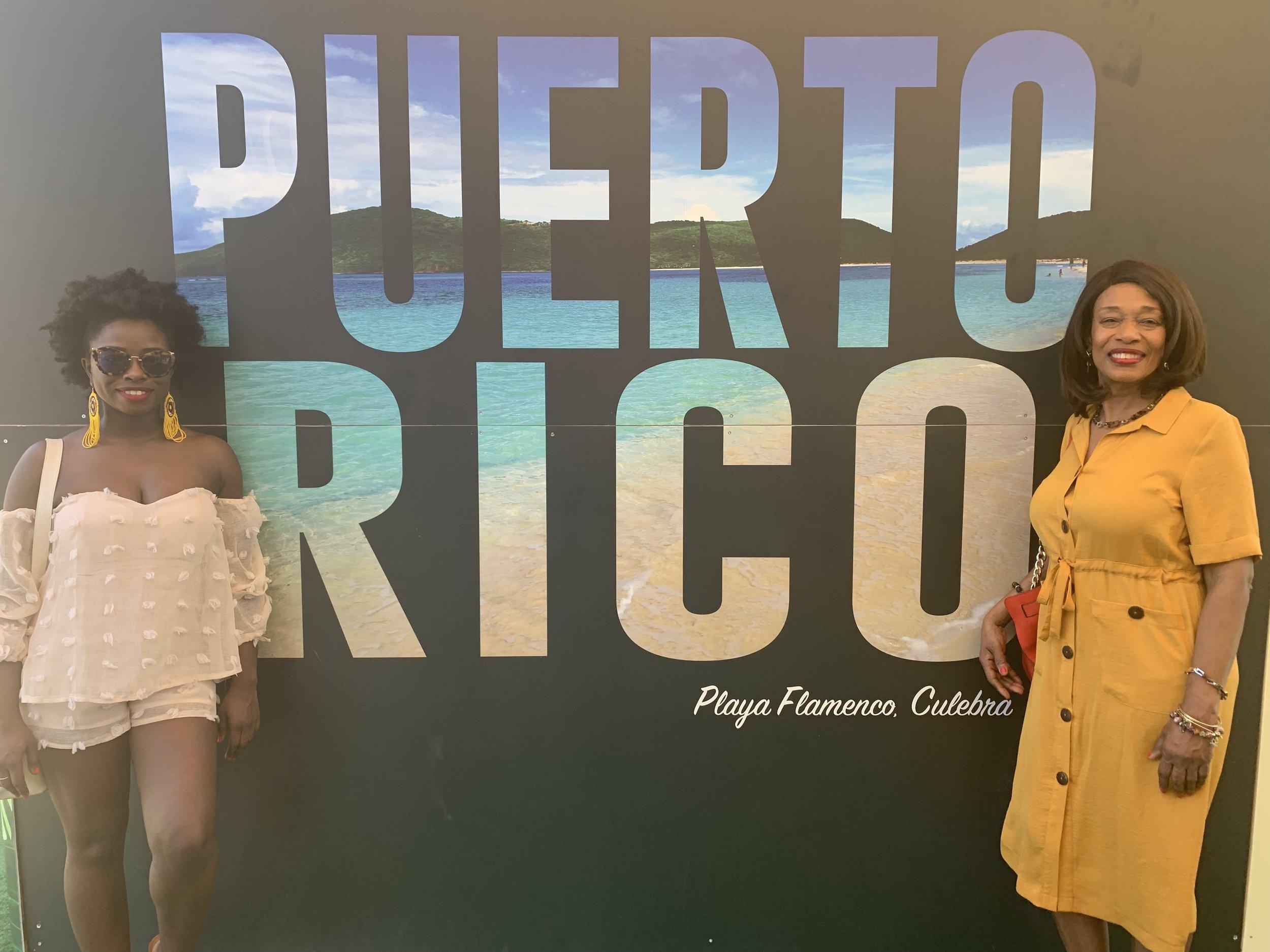 Puerto Rico - Enjoying San Juan, PR with my mother.