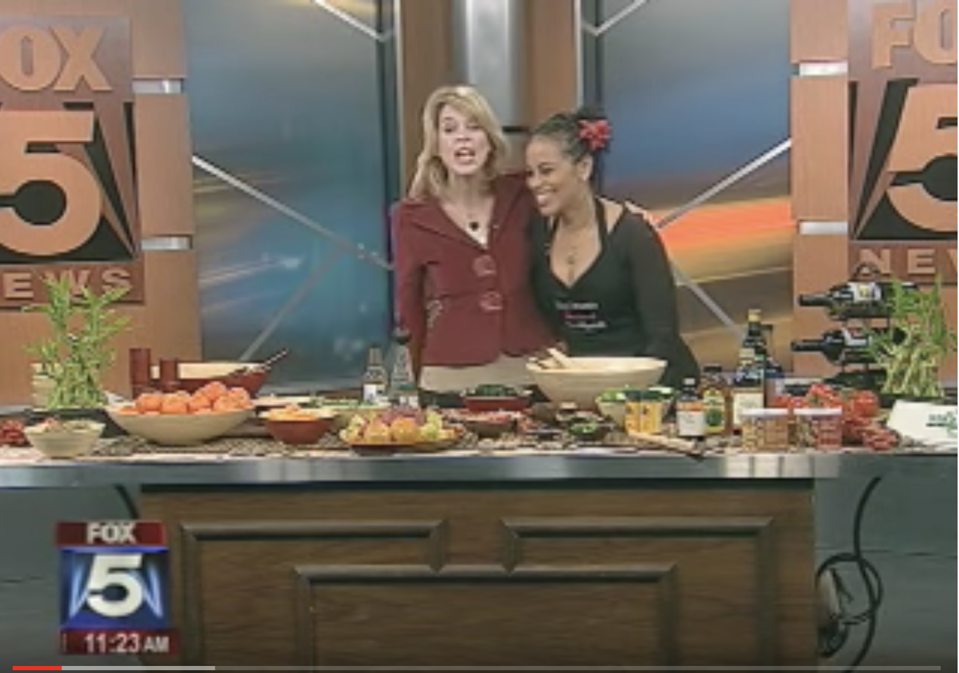 Healthy Greens Cooking Demo - Sunyatta whips up a yummy Kale salad with Teriyaki & Tangerine salsa on TV! Check out the segment on our Youtube channel.