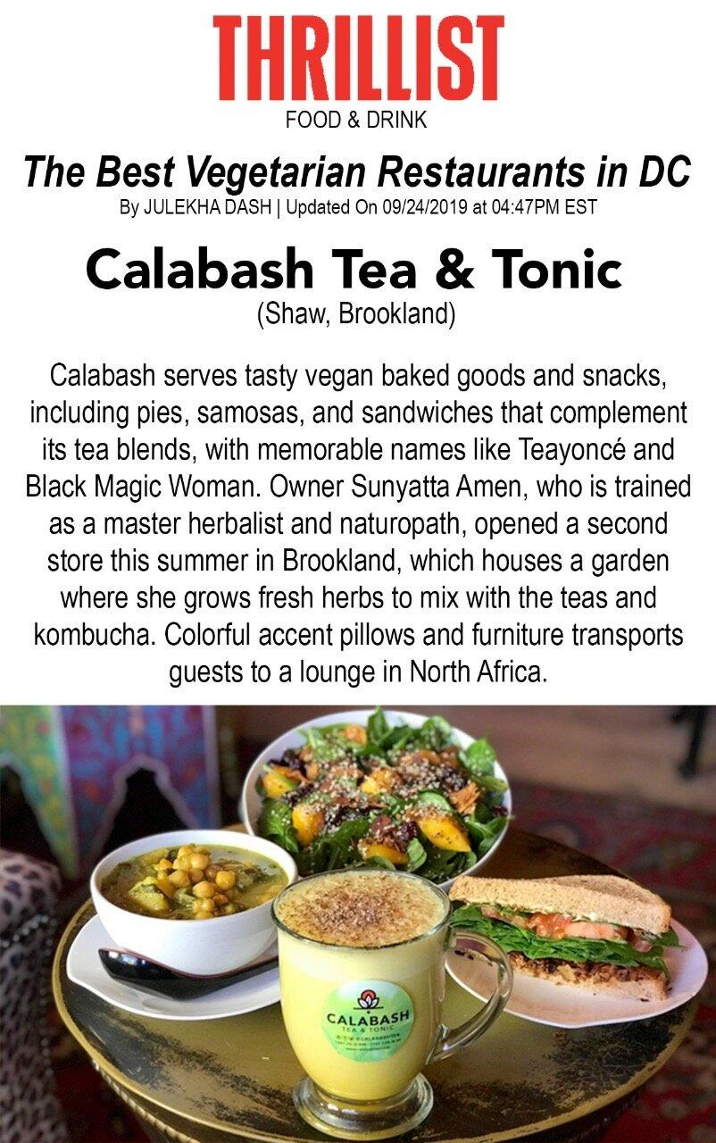 THRILLIST - Calabash featured in the list of Best Vegetarian Restaurants in D.C.