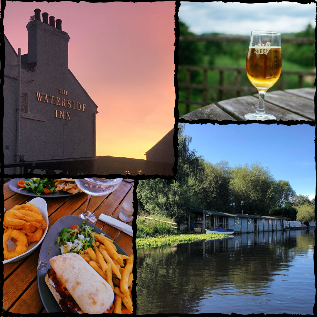A great riverside pub for some refreshing beverages and delicious snacks -