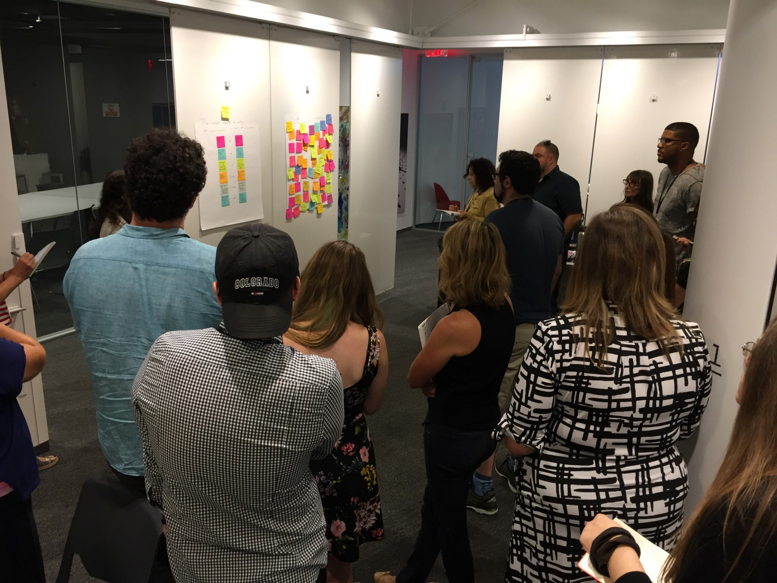 A facilitated design thinking session