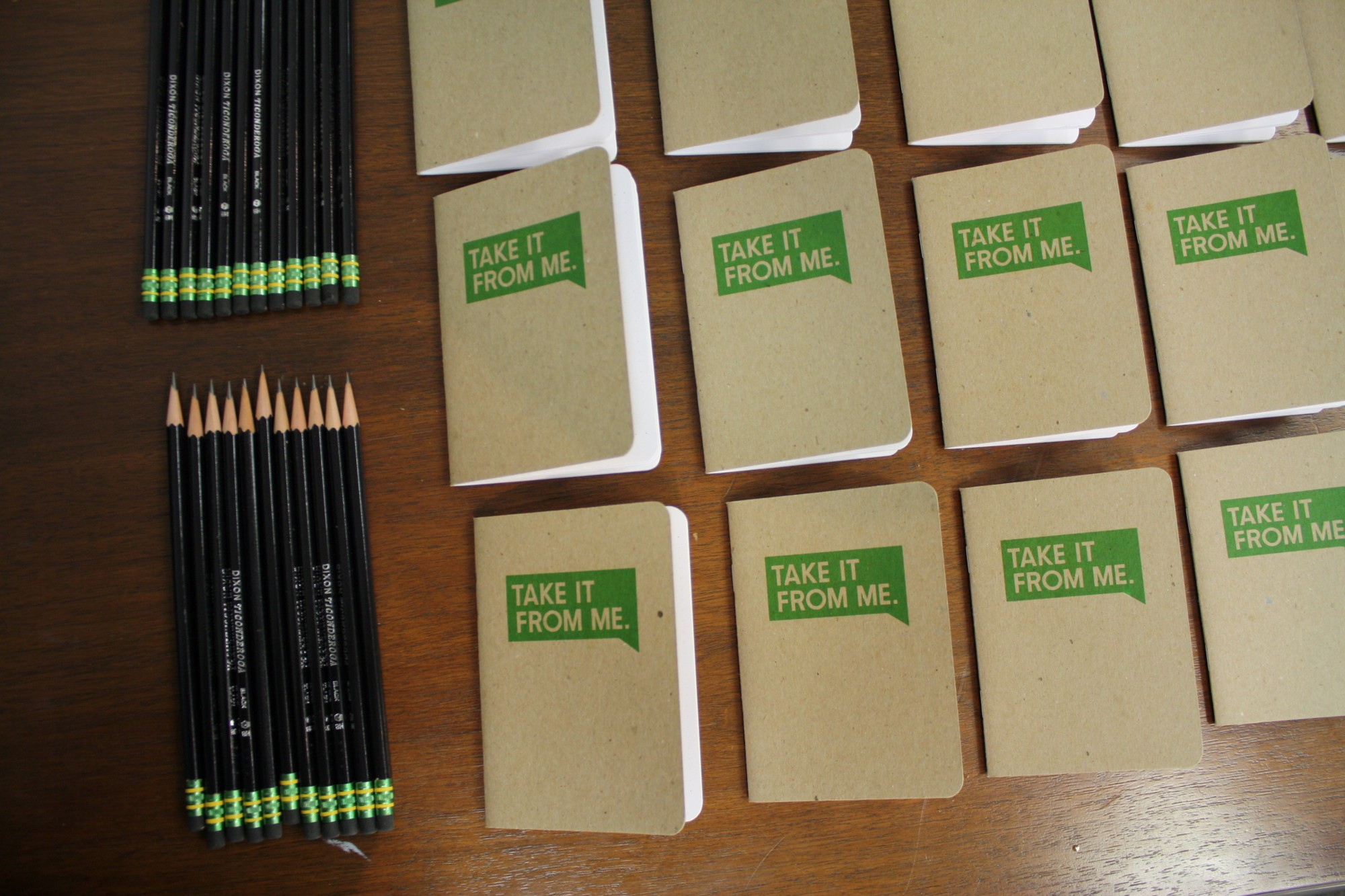 Participants receive Scout notebooks and pencils. Photo: Carly Hagins