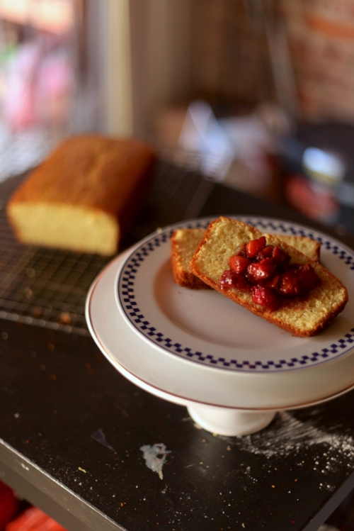 Olive Oil Pound Cake Balsamic Strawberries