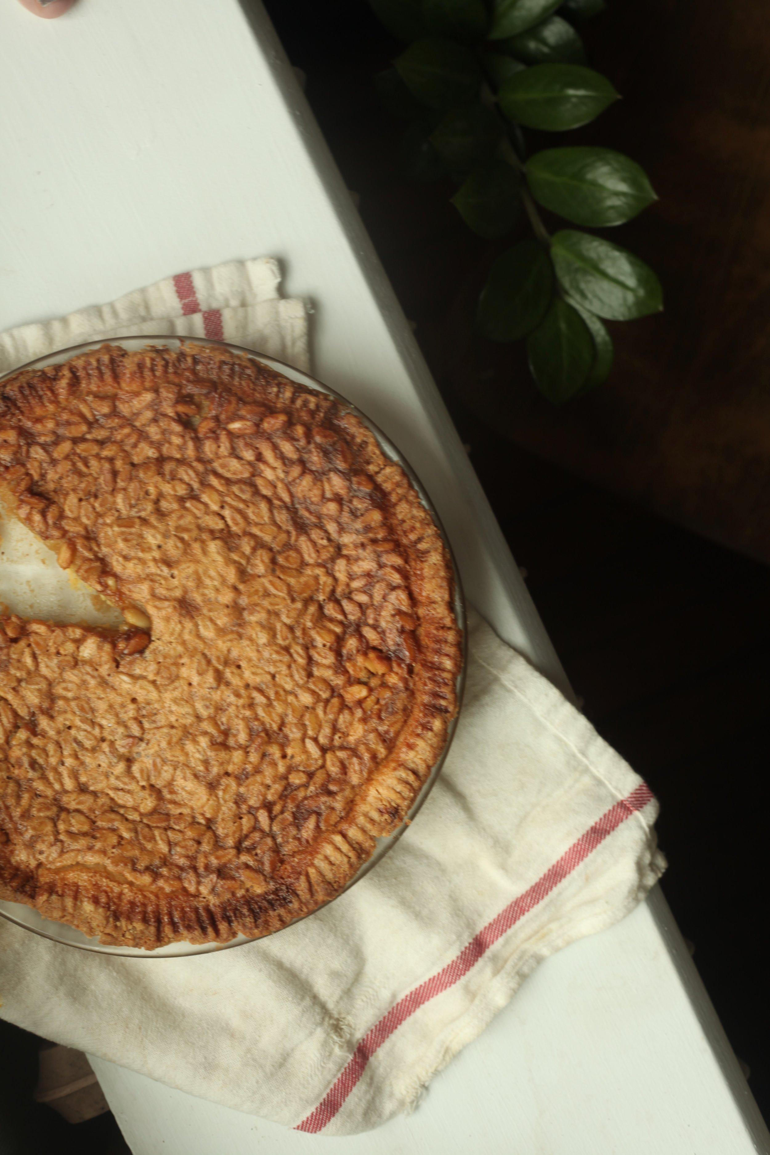 Honey Pine Nut Pie 4