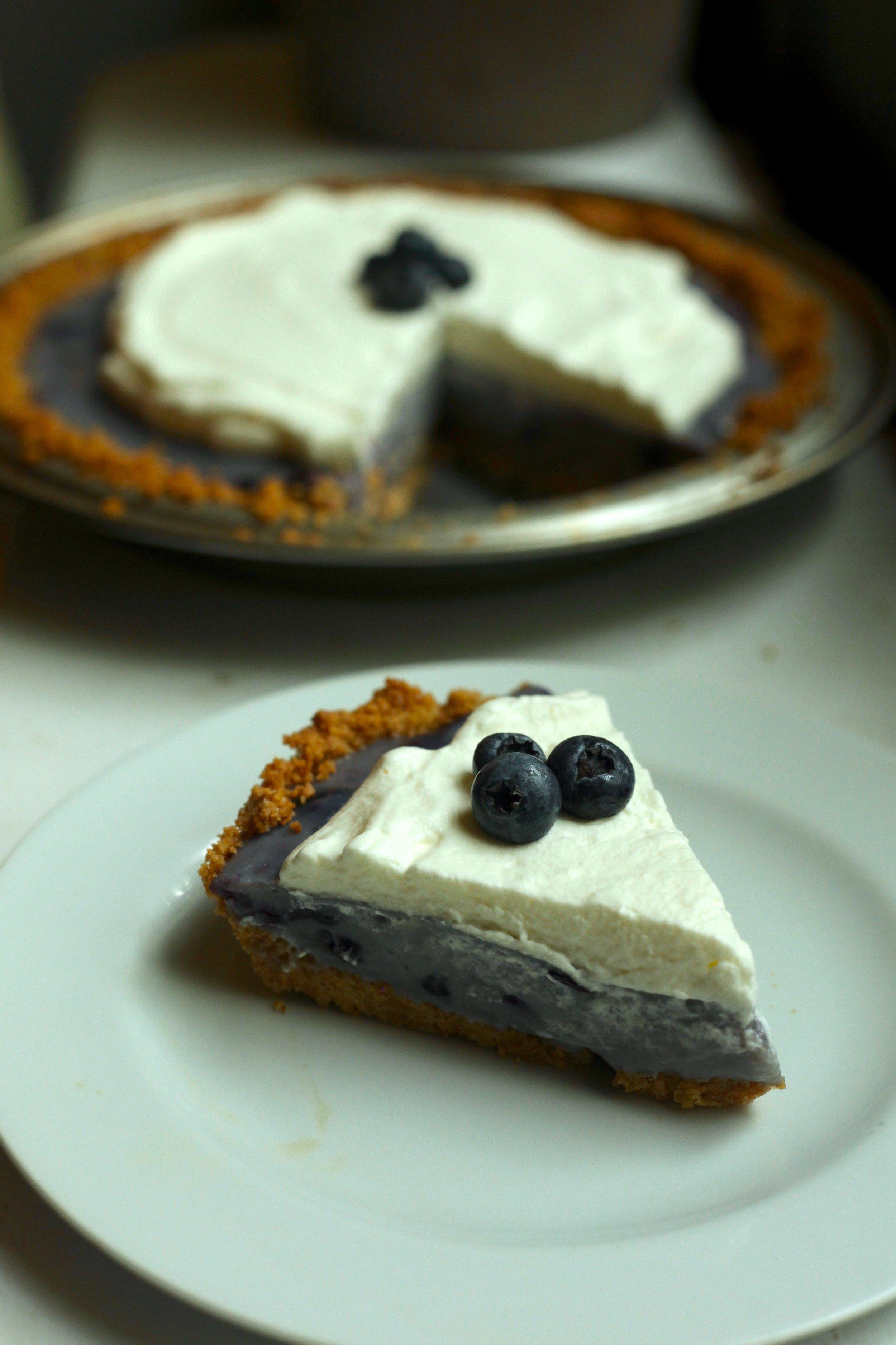 Blueberry Pudding Pie 1