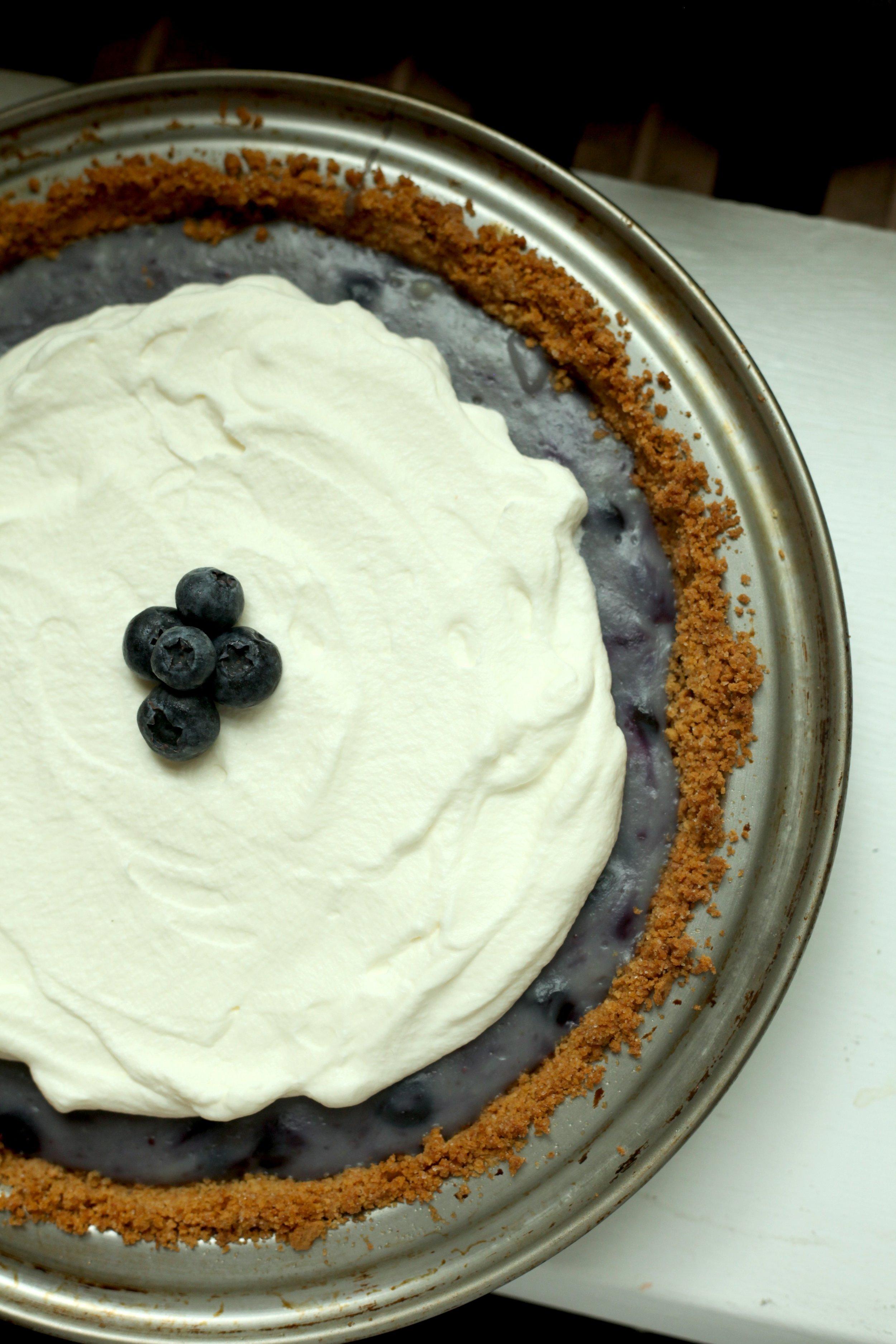 Blueberry Pudding Pie 2