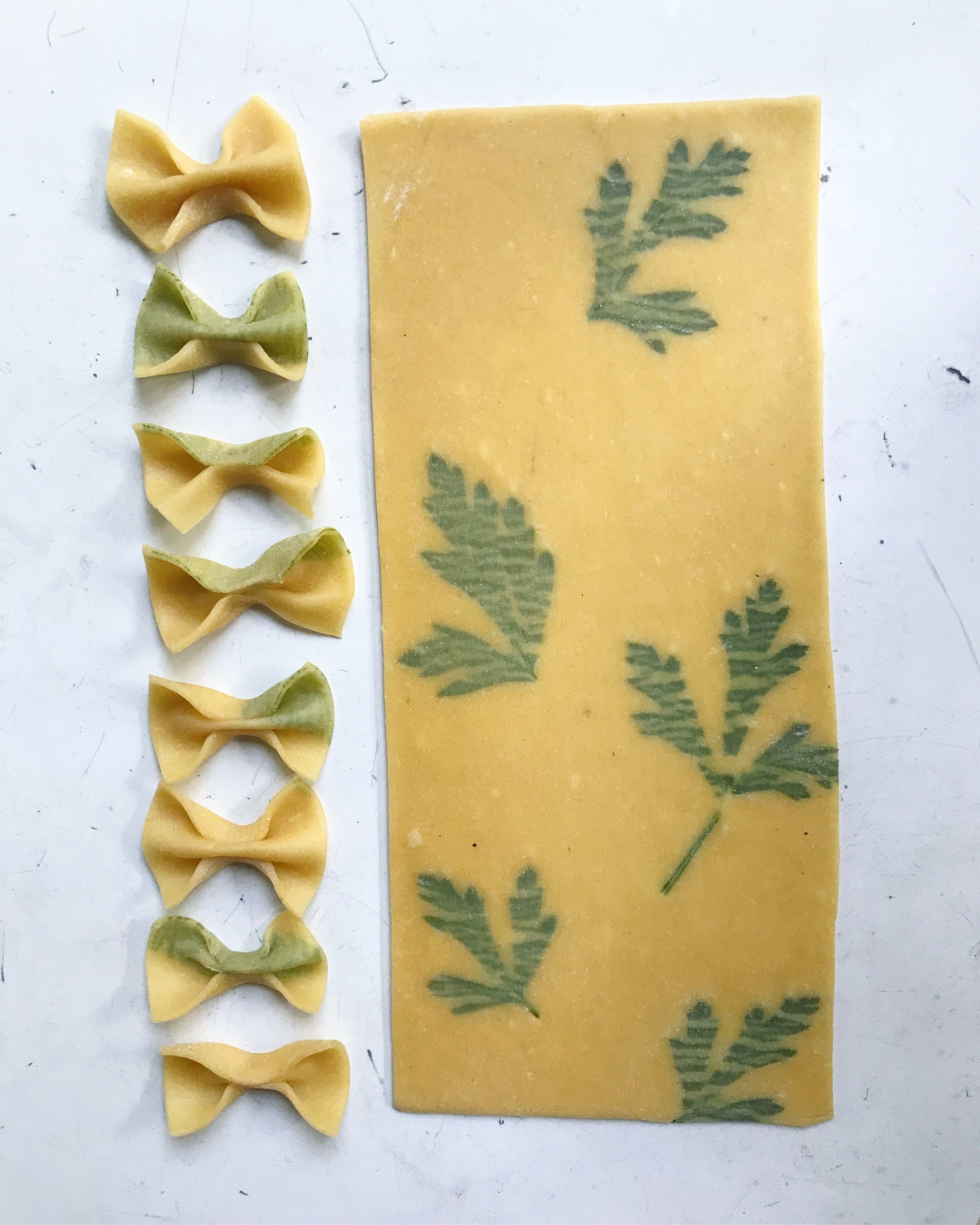 Homemade pasta edible flowers 2