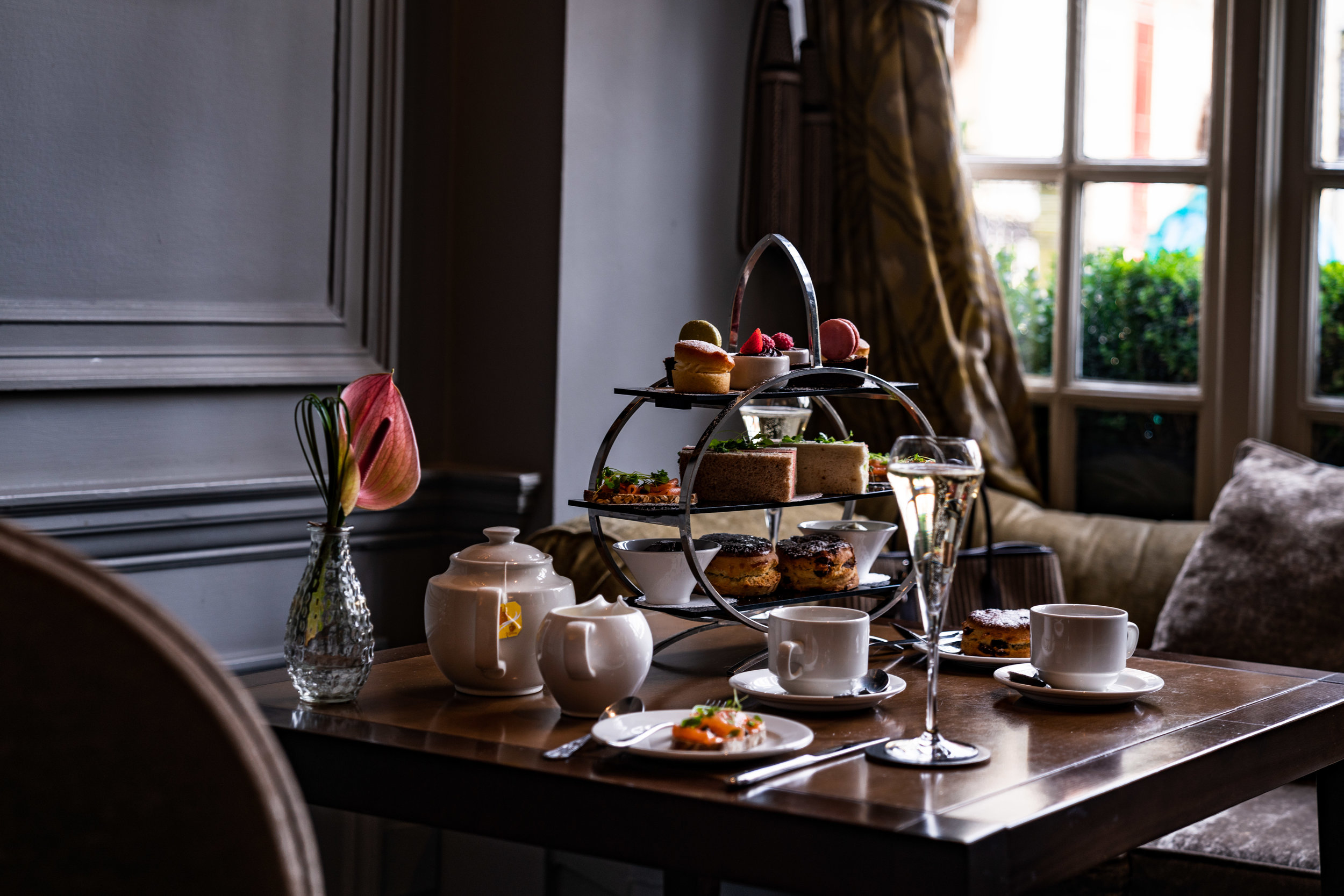 Afternoon tea at Castle Hotel MGallery Sofitel Windsor