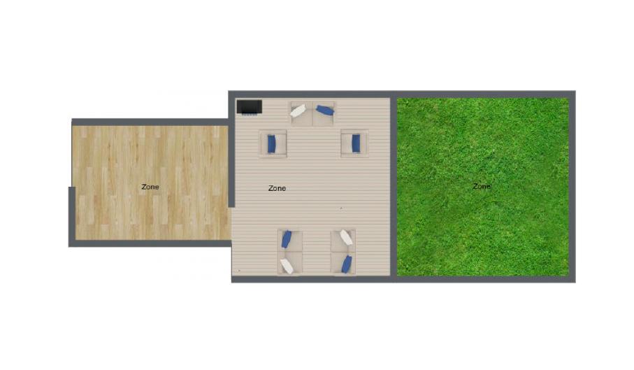 OPTION 1 : Private Studio Space + Private Garden Patio +Greenspace