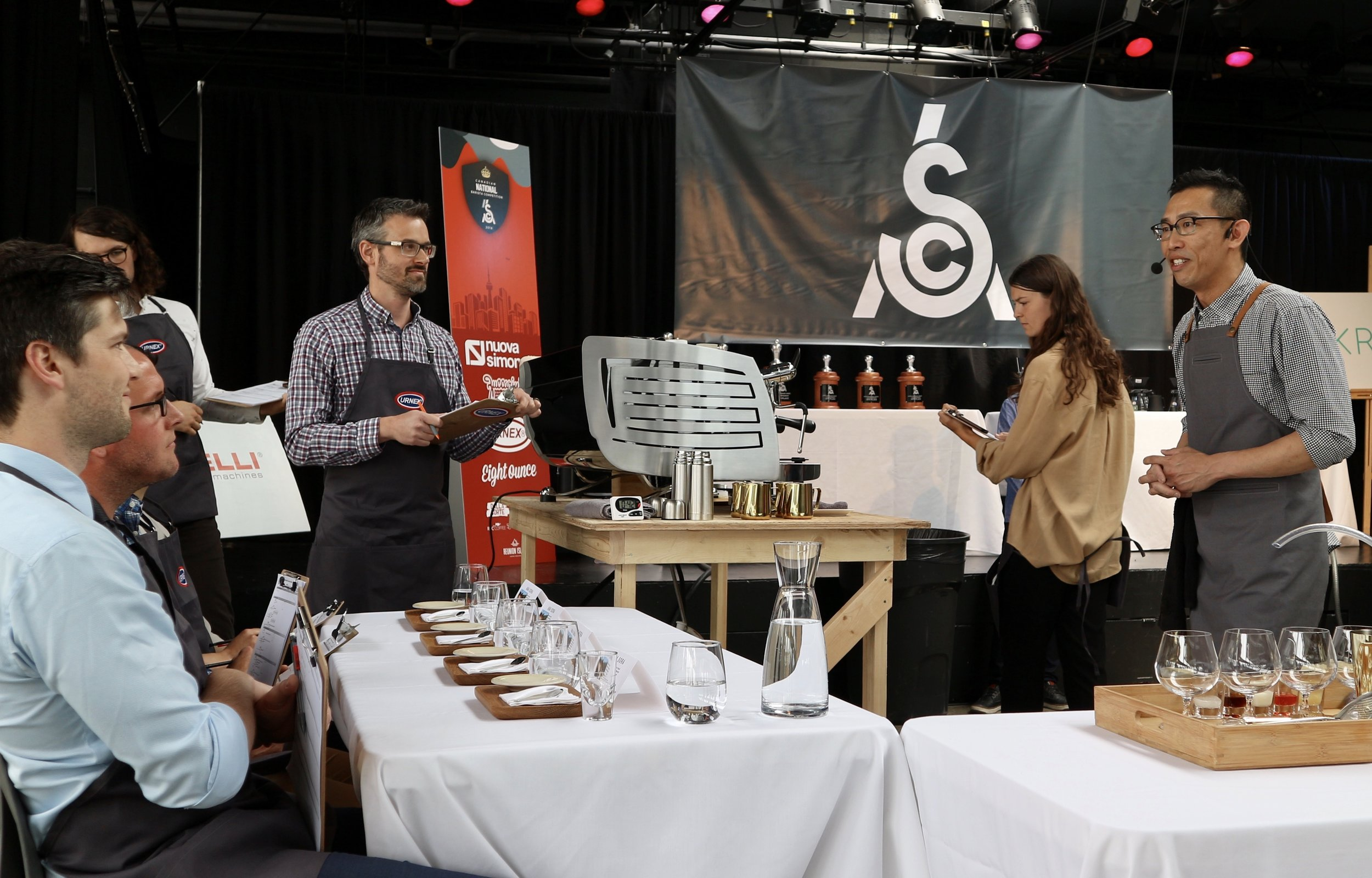 Yadi competing for the first time at the 2018 Canadian National Barista Championship, placing 8th overall.